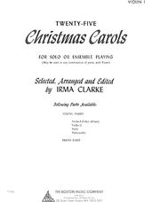 25 Christmas Carols - Violin 1