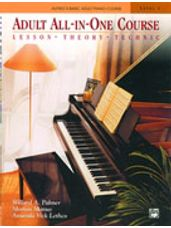 Alfred's Basic Adult All-in-One Piano Lesson-Theory-Technique-Repertoire Book 1